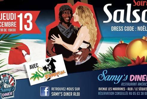 Soiree Salsa avec SABOR TROPICAL (Dress Code : Noel) : Jeudi 13 décembre 2018 a partir de 19h30 au Samy's Diner ALBI