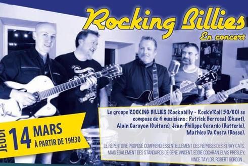 Concert Des Rocking Billies le Mardi 14 Mars 2019 a partir de 19h30 au Samy's Diner Albi