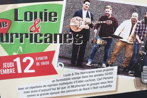 Jeudi 12 Septembre : Louie & the Hurricanes